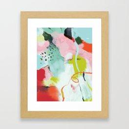 landscape in spring Framed Art Print