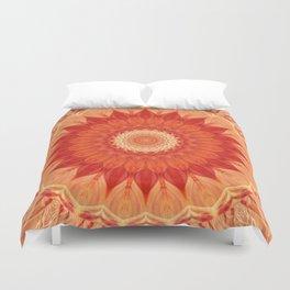 Mandala orange red Duvet Cover