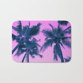 Palm Trees Pink Bath Mat