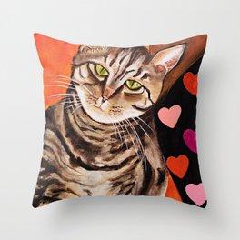 Love Tabbies Throw Pillow