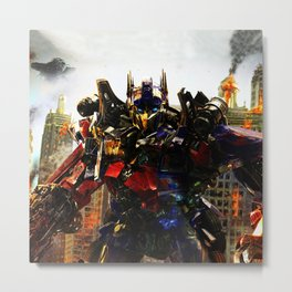 leader robot Metal Print