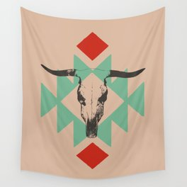 Southwest long horn Wall Tapestry