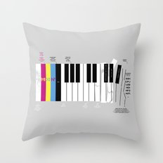 Brief History of Music Throw Pillow