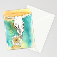 South West Cow Skull Stationery Cards