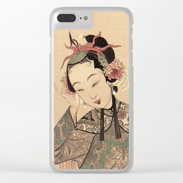 You are so beautiful more than flower and moon Clear iPhone Case