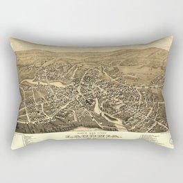 Bird's Eye View of Laconia, New Hampshire (1883) Rectangular Pillow