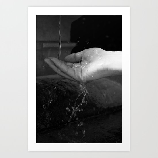 Loving hands  Art Print