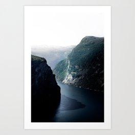 Nordic Fjord Landscape Art Print