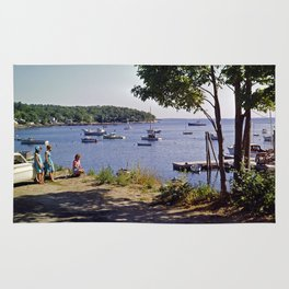 Marion Village in Rockport - Camden, Maine in the early 1960's, Retro Harbor Rug