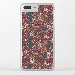 Gerda's garden dark background Clear iPhone Case