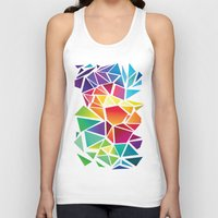 triangles Tank Tops featuring Triangles by Veronika