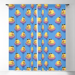 Chick on vacation Blackout Curtain