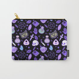 cute witch pattern black Carry-All Pouch