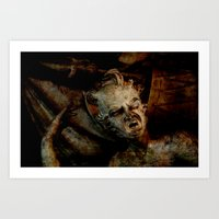 scary Art Prints featuring Scary by LoRo  Art & Pictures