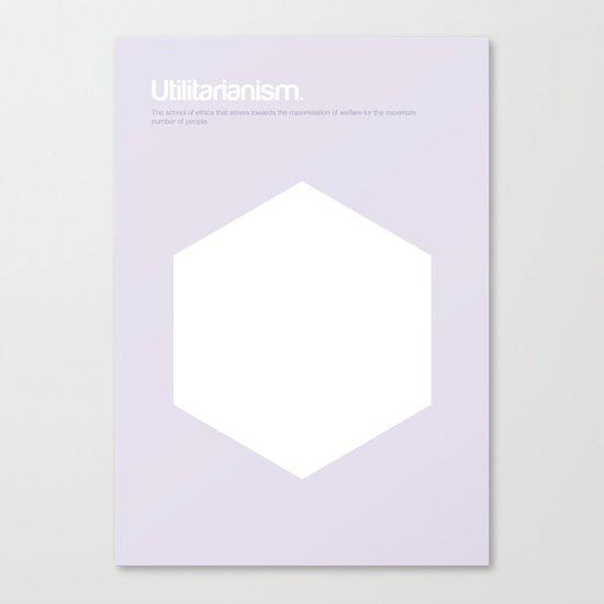 Utilitarianism Canvas Print
