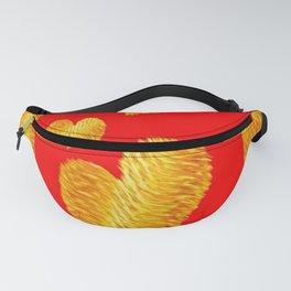 Curline hearts-Red Fanny Pack