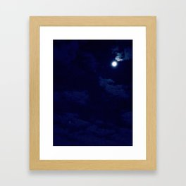 The night with a hazy moon Framed Art Print
