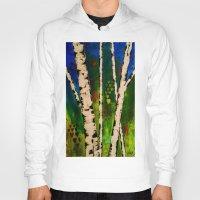 birch Hoodies featuring Blue Birch by BeachStudio