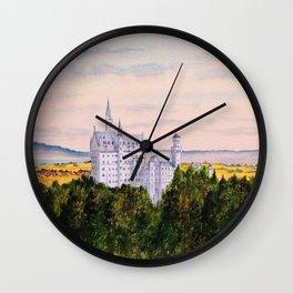 Neuschwanstein Castle Bavaria Germany Wall Clock