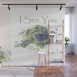 i see you - ayes Wall Mural