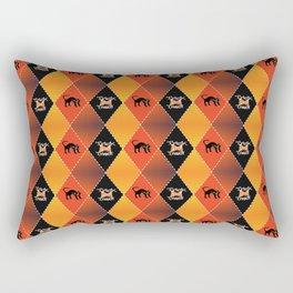 Halloween Argyle Rectangular Pillow