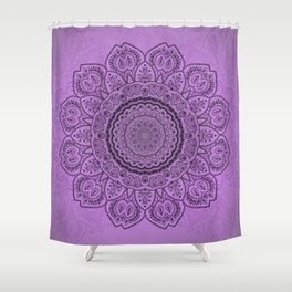 Mandala on Light Purple Shower Curtain