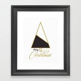 Glod Xmas #society6 #gold #xmas Framed Art Print
