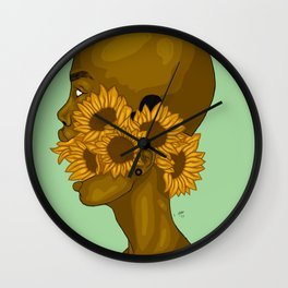 My Sunflower Wall Clock
