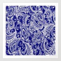 batik Art Prints featuring paisley batik by Ariadne
