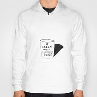 hemingway Hoodies featuring Hemingway_A Clean Well-Lighted Place by StudioSotron