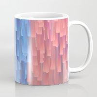 fringe Mugs featuring Fringe (Blue) by Jacqueline Maldonado