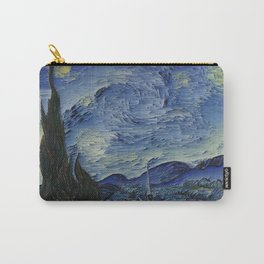 Starry Night Glitch Carry-All Pouch