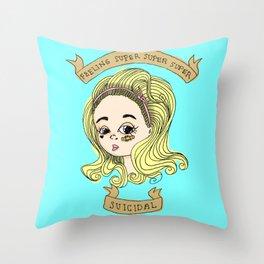 Teen Idol Throw Pillow