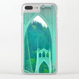St. Johns Bridge Portland Oregon Clear iPhone Case