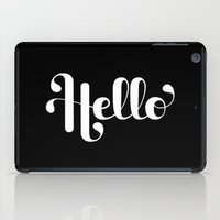 lettering iPad Cases featuring Hello Lettering by Roberlan Borges