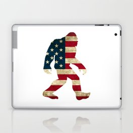 Bigfoot american flag Laptop & iPad Skin