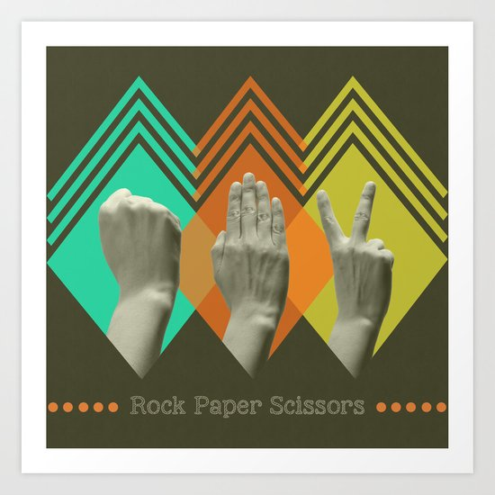 rock paper scissors Art Print
