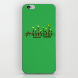 Music notes garden iPhone Skin