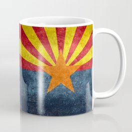 State flag of Arizona in Vintage Grunge Coffee Mug