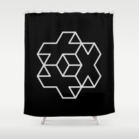 positive Shower Curtains featuring Positive Dice by Dizzy Moments