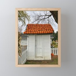 The Pumpkin House Framed Mini Art Print