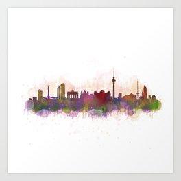 Berlin City Skyline HQ1 Art Print
