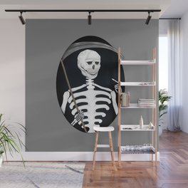 Reaper Gothic Death Tarot Card Medieval Skeleton Art Print Wall Mural