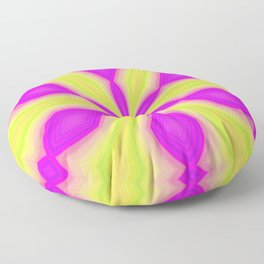 Purple and Green Floor Pillow