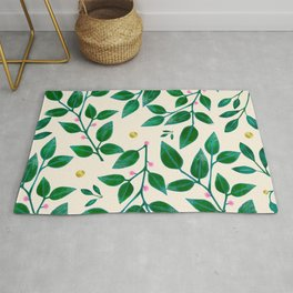 Rubber Plant Pattern Rug