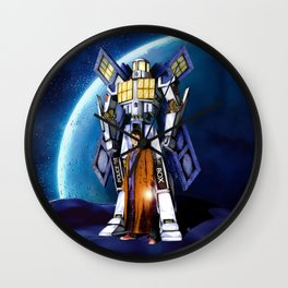 tardis Doctor Who Mashup transformers Phone Box Robot iPhone 4 4s 5 5c 6, pillow case and tshirt Wall Clock