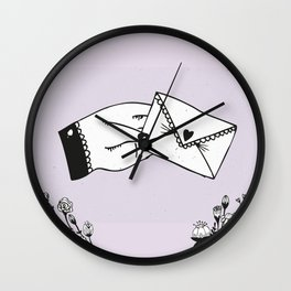 Snail Mail Love Wall Clock