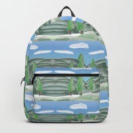 Van Gogh Trees Pattern Backpack
