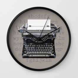 Vintage Typewriter Wall Clock