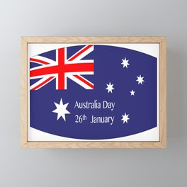 Australia Day Flag Framed Mini Art Print